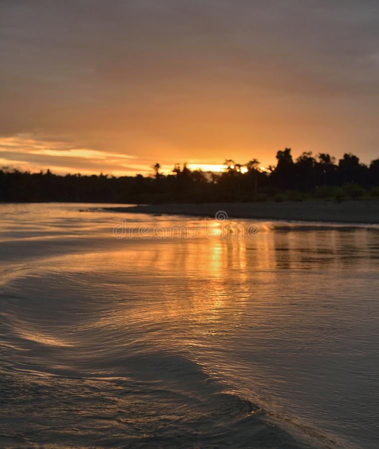 Download Sunset On The River Stock Photo - Image: 83714311