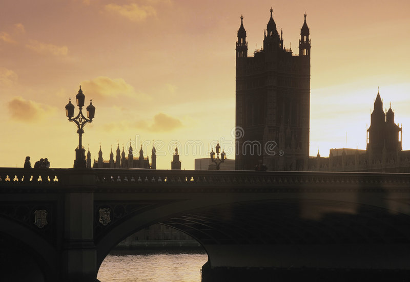 Download Sunset river thames stock image. Image of embankment, sunset - 4941173