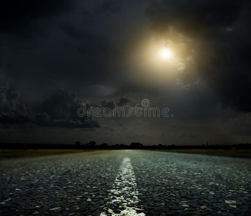 Sunset and road royalty free stock image