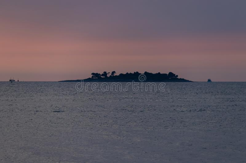 Sunset Rovinj Vrsar Croatie photographie stock