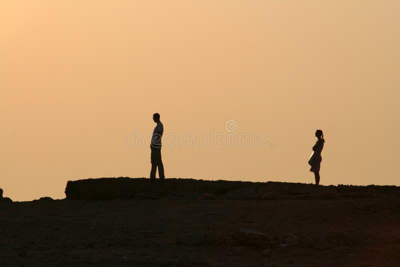 sunset rozwodowy zdjęcie royalty free