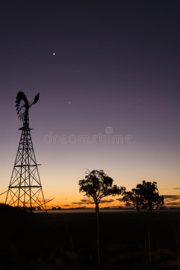 Sunset in a rural town royalty free stock images