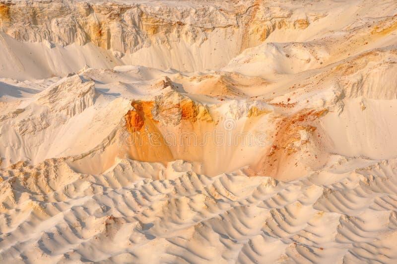 Sunset rusty  ironstone dunes background royalty free stock images