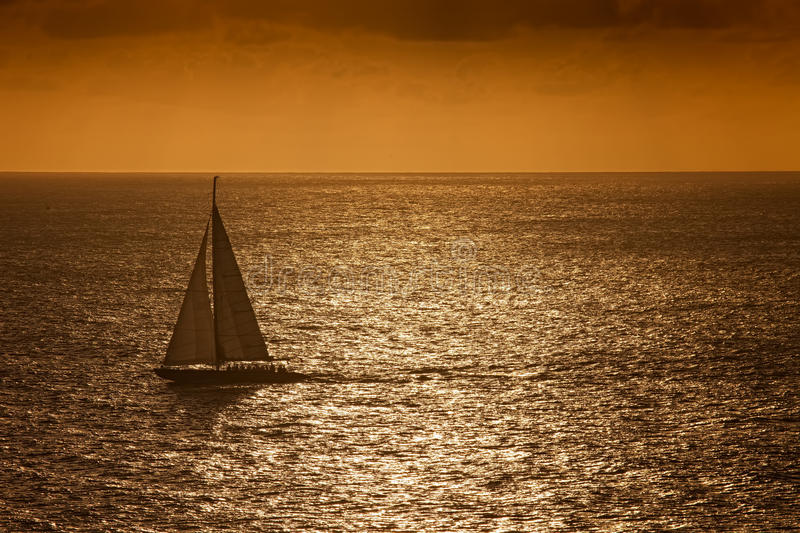 Download Sunset Sail On The Caribbean Sea Stock Photo - Image: 18053860