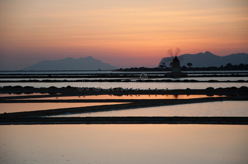 Download Sunset In A Salt Mine Stock Photo - Image: 28355690