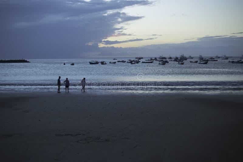 Sunset at San Juan del Sur bay, Rivas royalty free stock photos