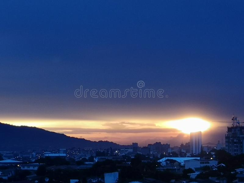 Sunset From San Pedro. One of many beautiful sunsets in San Pedro, San Jose, Costa Rica royalty free stock photography
