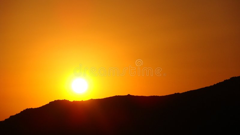 Sunset in Sardinia royalty free stock images