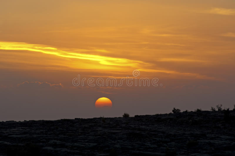 Download Sunset at the Sayq plateau stock image. Image of countryside - 28725779