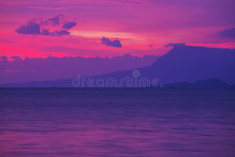 Download Sunset scene stock image. Image of evening, beach, view - 32262335