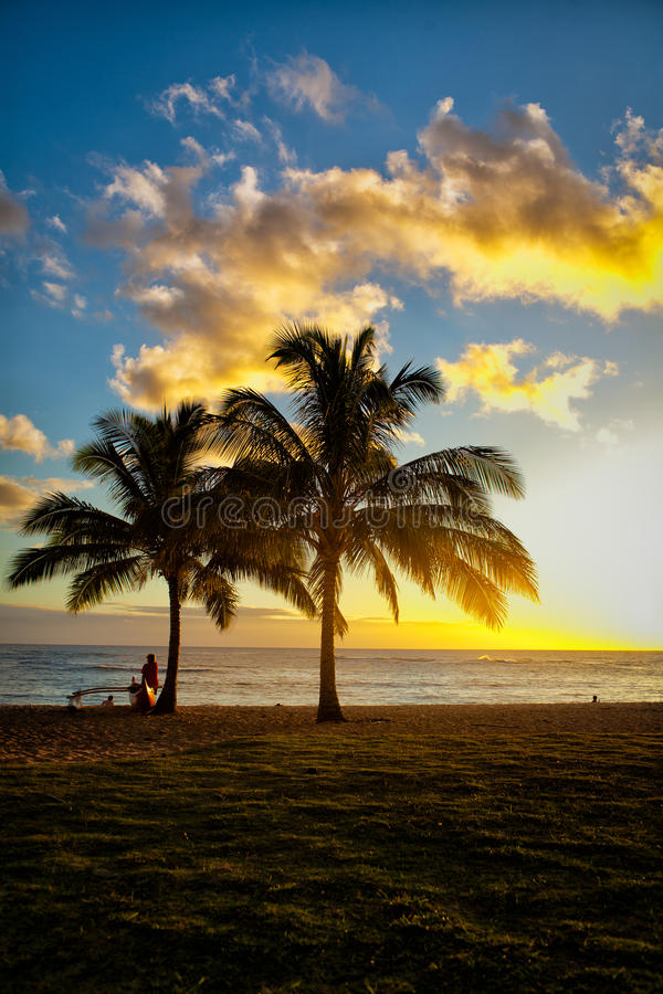 Download Sunset Scene At Tropical Beach Resort Stock Image - Image: 32728321
