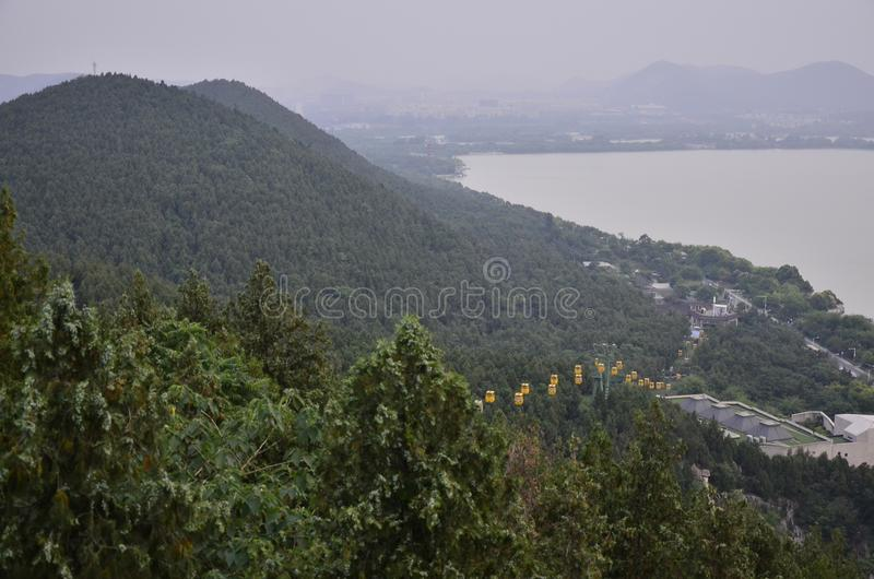 The scenery of Yunlong Mountain at Xuzhou,China in spring. stock images