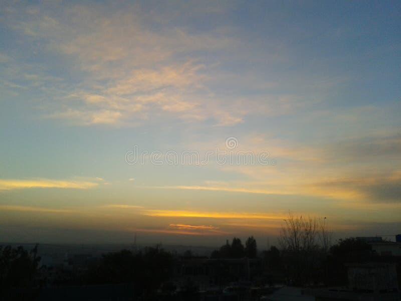 Sunset scenes stock image