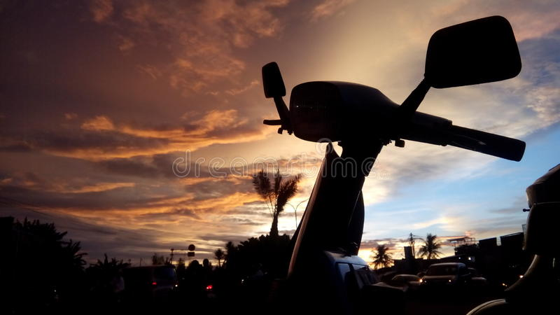 Sunset Scoot stock photography