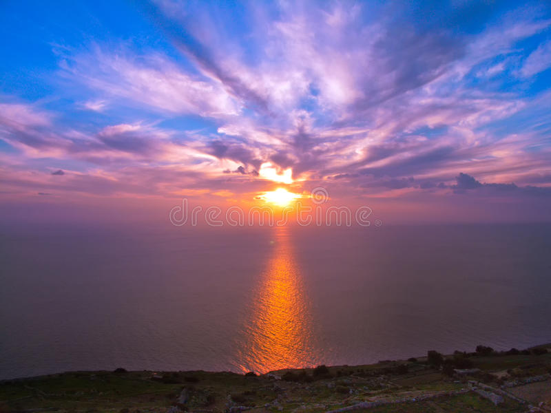 Download Sunset at Sea stock photo. Image of prayer, ocean, peaceful - 26794592