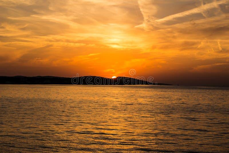 Sunset On The Sea Free Public Domain Cc0 Image