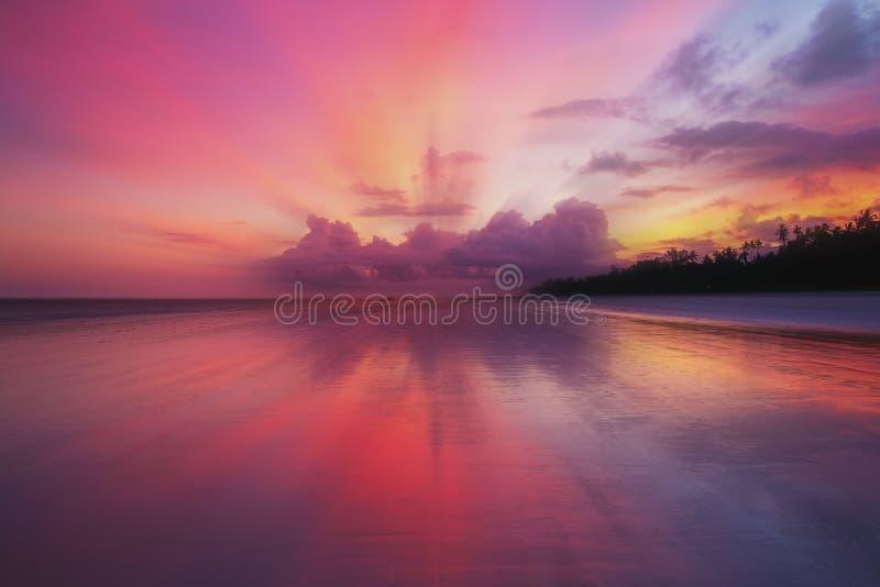 Sunset at Sea stock image
