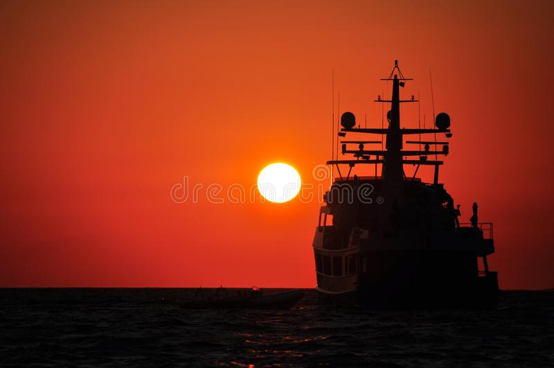 Sunset, Sea, Sunrise, Calm royalty free stock images