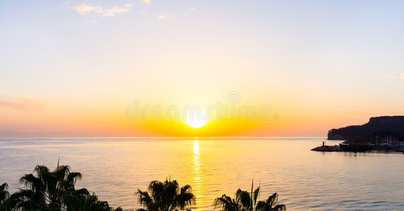 Download Sunset On The Sea Sunrise Wallpaper Stock Image