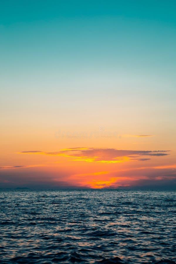 Sunset sea in Zadar, Croatia royalty free stock images