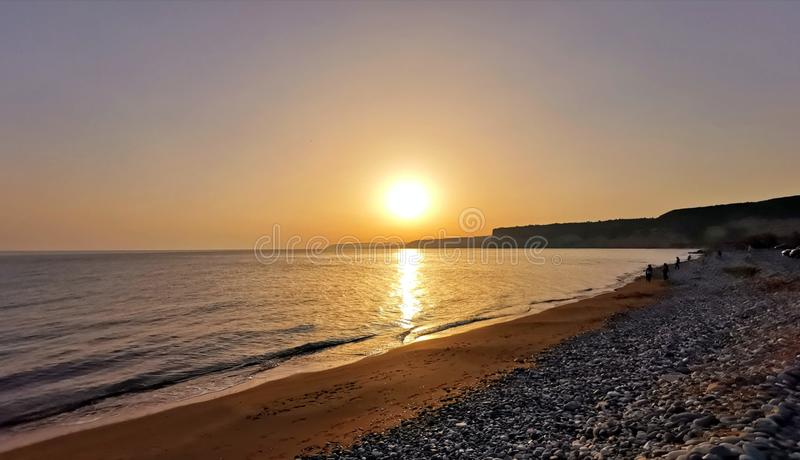Sunset on the Seashore royalty free stock photo