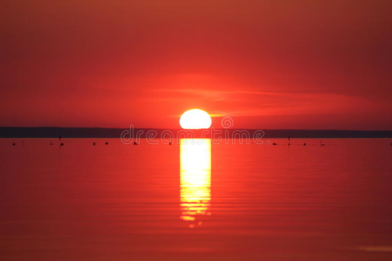 Sunset by the seaside royalty free stock photography