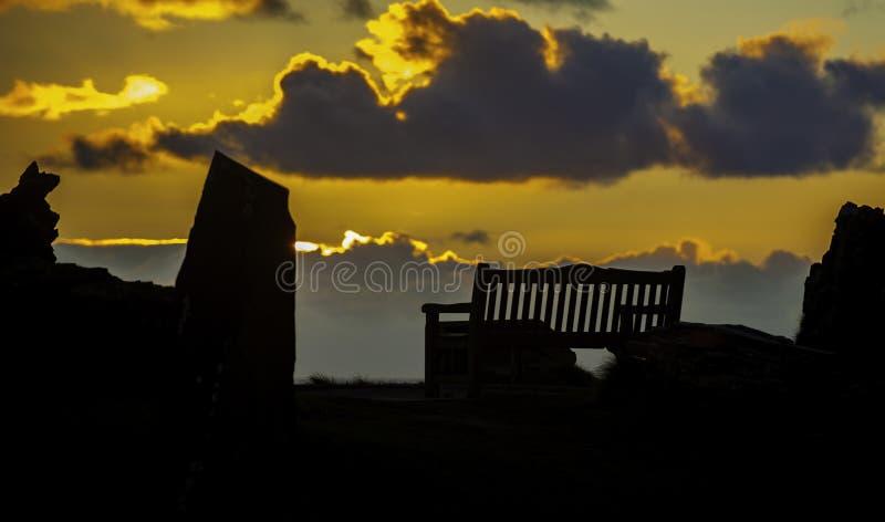 Sunset Seat royalty free stock photo