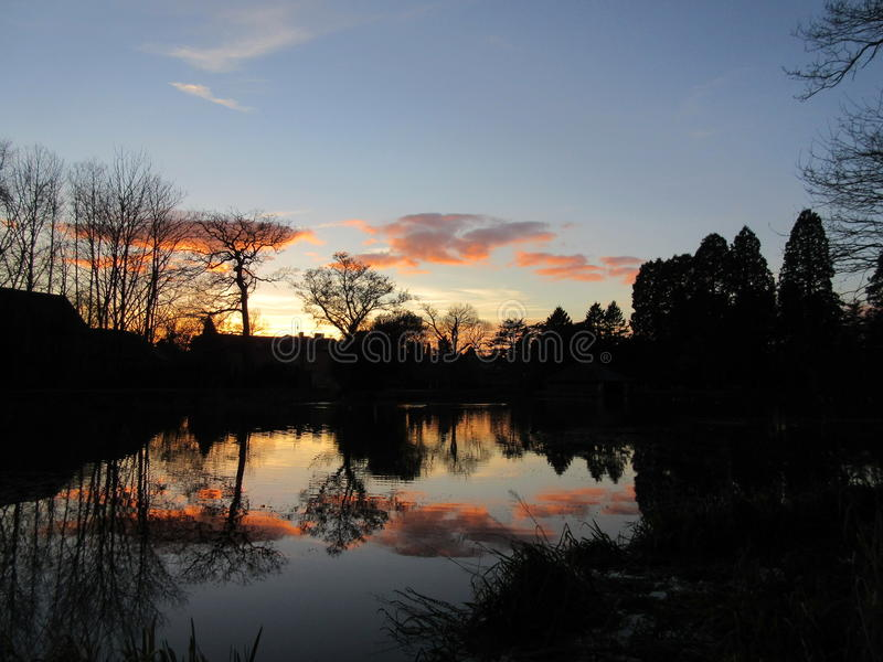 Sunset See lizenzfreie stockbilder