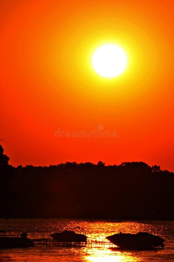 Sunset See marie lizenzfreies stockbild