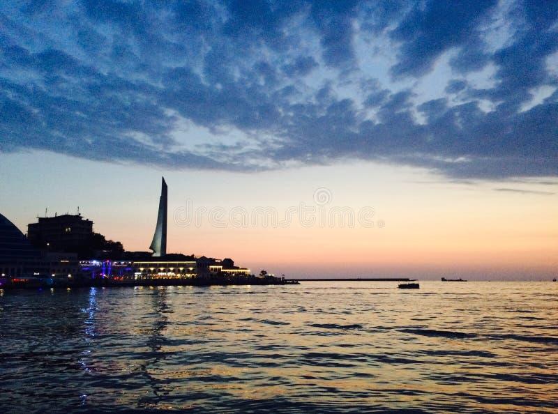 Sunset in Sevastopol royalty free stock images
