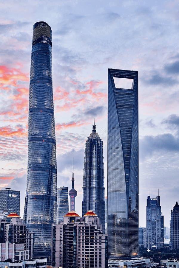 Sky scrapers of Shanghai stock image