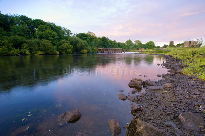 Sunset on the Shannon. Sunset on the River Shannon at Jamestown, Co.Roscommon, Ireland stock photography