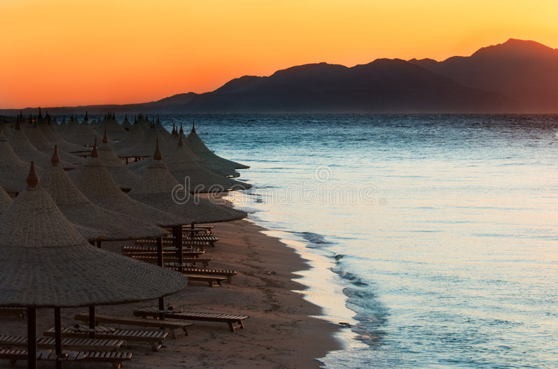 Sunset in sharm el sheikh royalty free stock photos