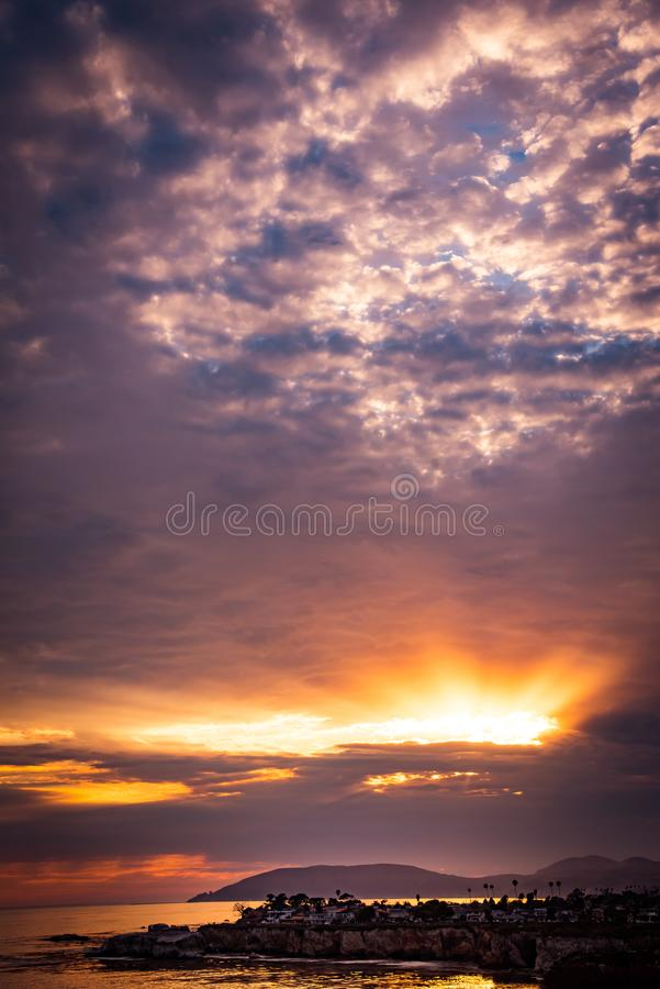 Shell Beach Sunset stock images