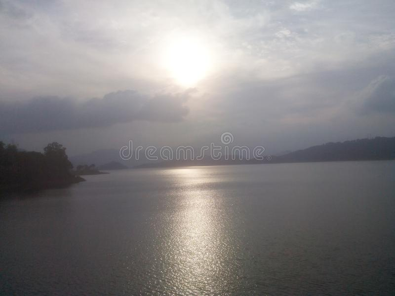 Sunset in shillong royalty free stock photos