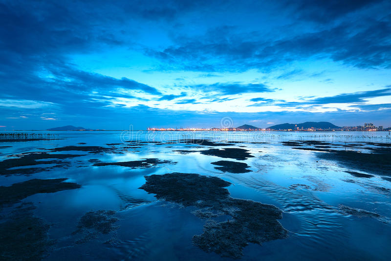 Download Sunset shingle coast stock image. Image of orange, dawn - 22944301