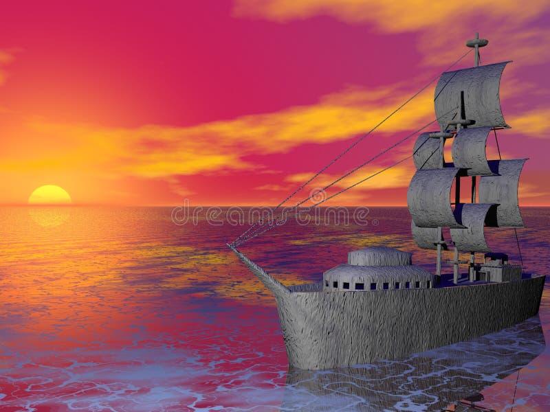 Download Sunset Ship Royalty Free Stock Image - Image: 240066
