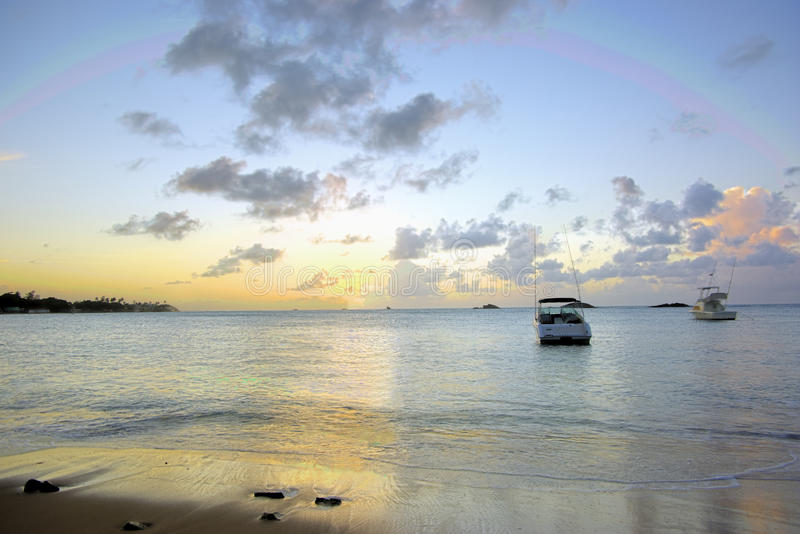 Download Sunset ships stock image. Image of rainbow, natural, sandy - 21090753