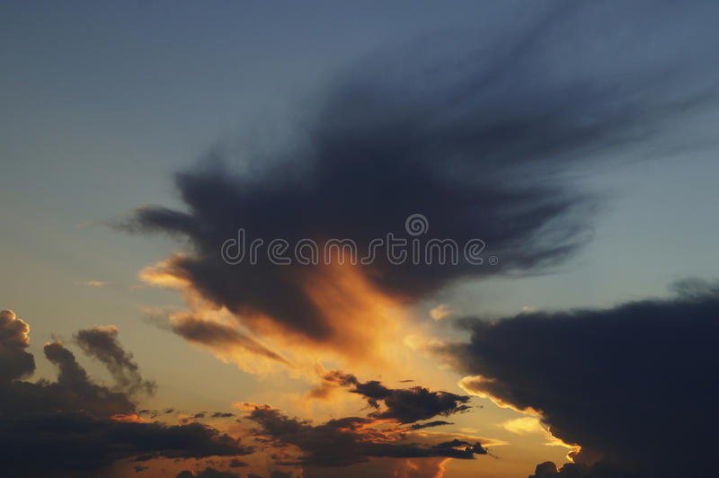 Sunset. Shot in Sochi, Russian Federation royalty free stock image