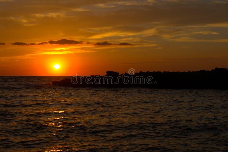 Sunset on Sicily royalty free stock image