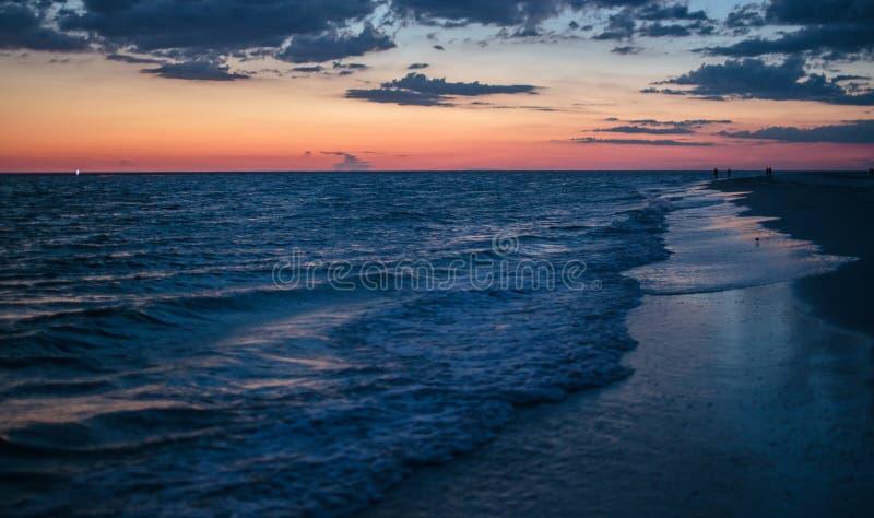 Sunset at Siesta Key royalty free stock photo