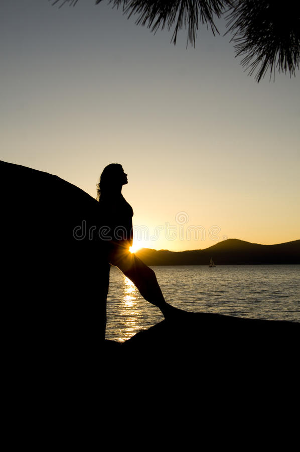 Sunset Silhouette stock photo