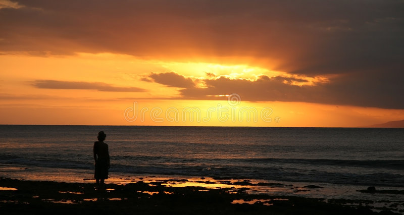 Download Sunset Silhouette Royalty Free Stock Images - Image: 286379