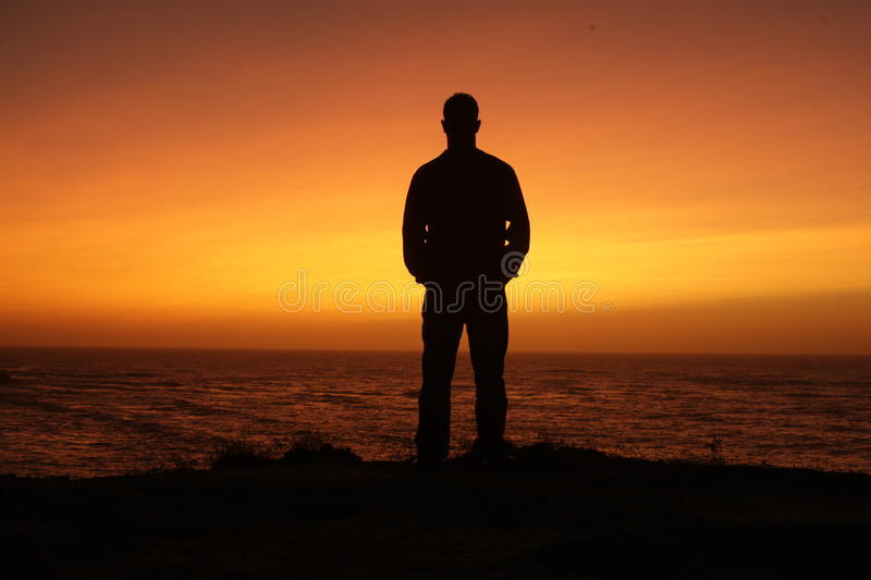Sunset and silhouette stock photos