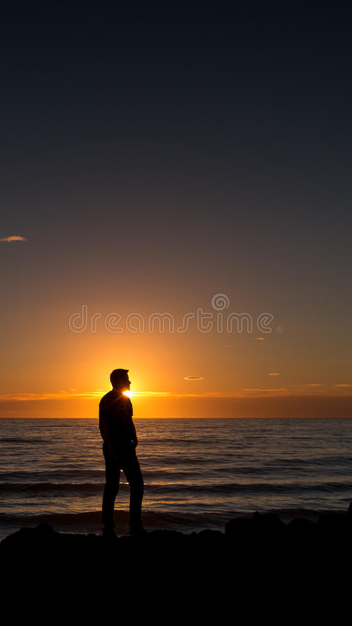 Download Sunset silhouette stock image. Image of outdoor, look - 32695077