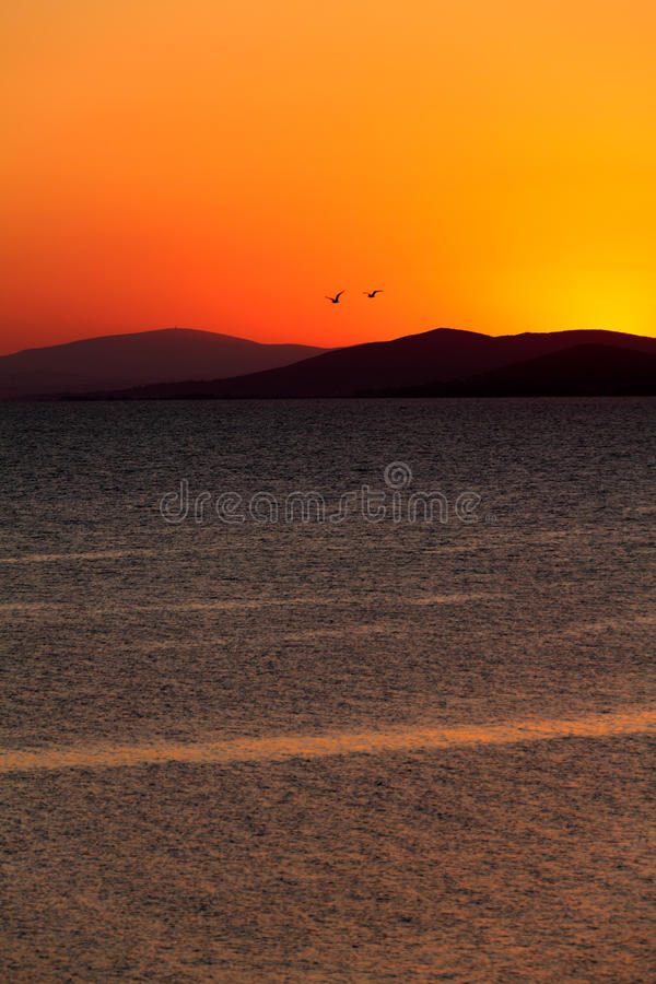 Sunset in Sithonia, Chalkidiki royalty free stock photo