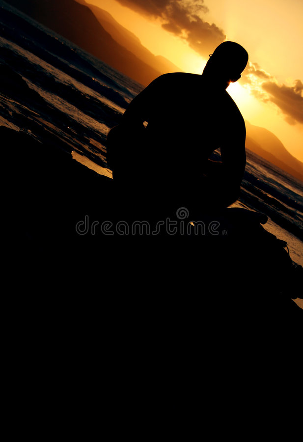 Sunset Sitter royalty free stock photography