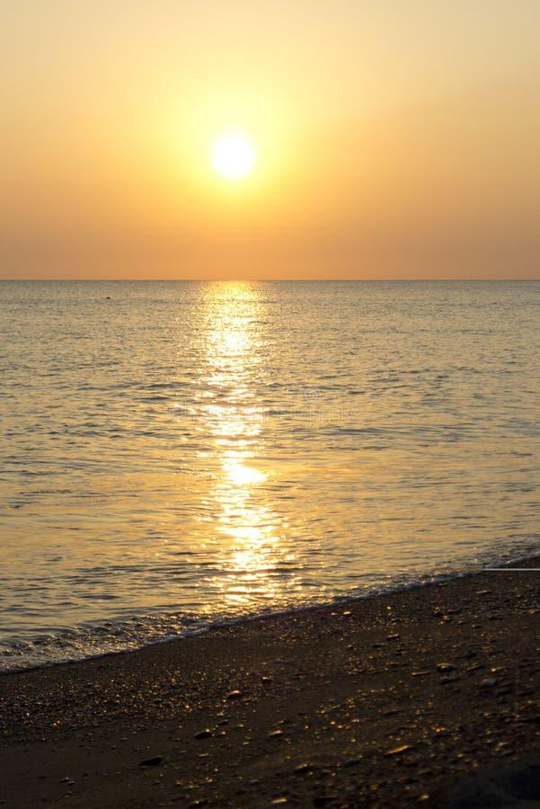 Sunset at Skala Eressos royalty free stock image