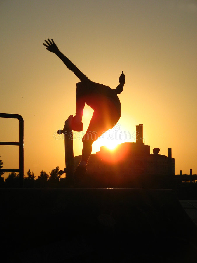 Sunset Skate stock images