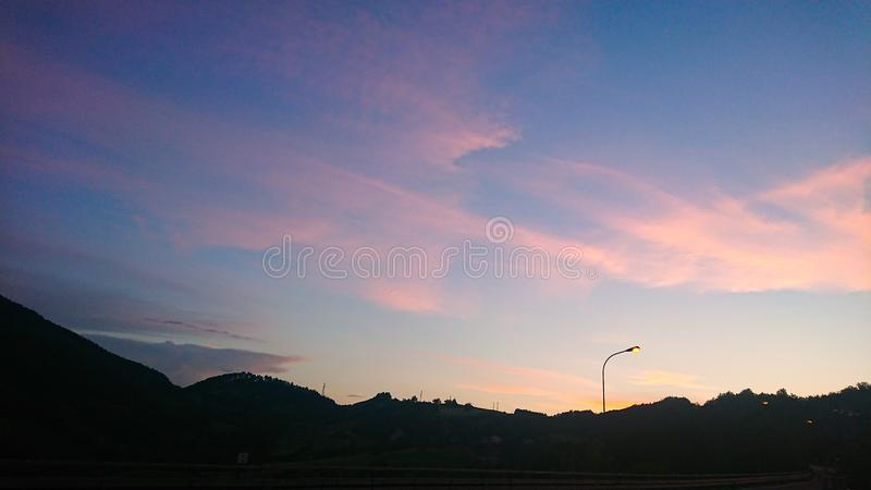 Sunset Skies in Italy royalty free stock image